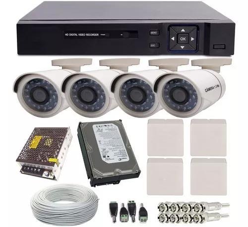 Kit cftv 4 câmeras segurança hd infra - instale você