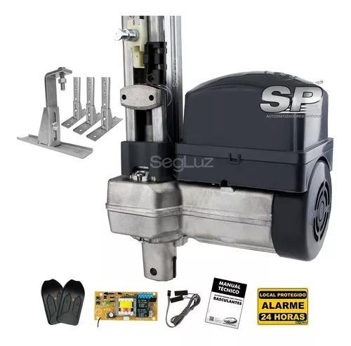 Kit motor portão basculante ppa 1/3 rápido + 4 suportes