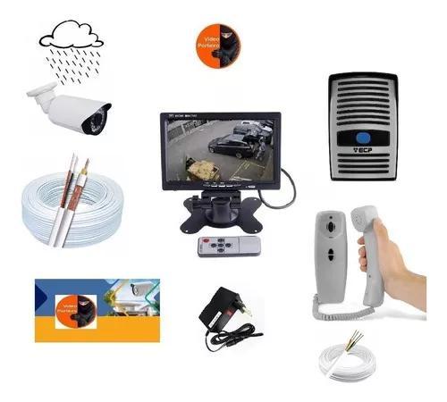 Kit video + interfone residencial porteiro eletrônico +1