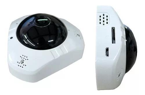 Mini camera panoramica segurança 3d wifi 360° 1.3mp espiã