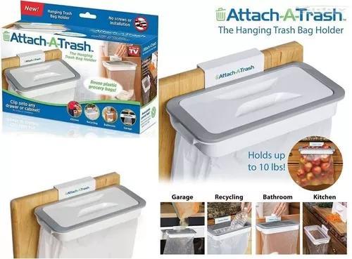 O suporte de saco de lixo pendurado attach-a-trash da tv