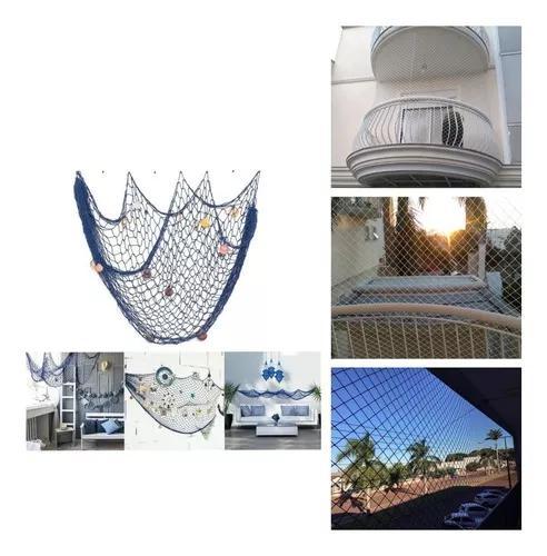 Rede de decoração ou proteção 2 m²