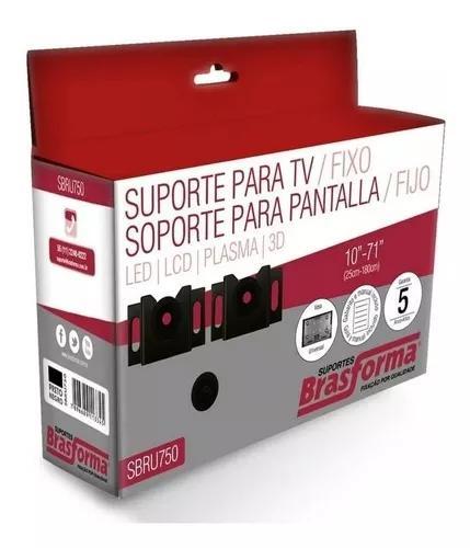 Suporte tv fixo led lcd plasma 3d 10 a 71 polegadas sbru750