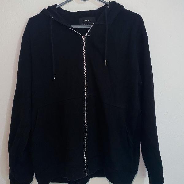 Blusa de moletom hoodie casaco com toca zara