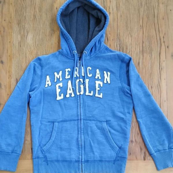 Moletom american eagle azul