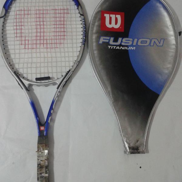 Raquete de tênis wilson - fusion titanium