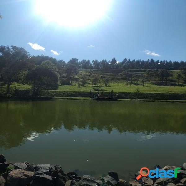 Terreno com lago - condomínio rural alto padrão - sousas