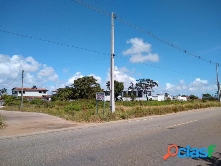 Excelente terreno esquina beira de pista próximo do arco praia de jacumã