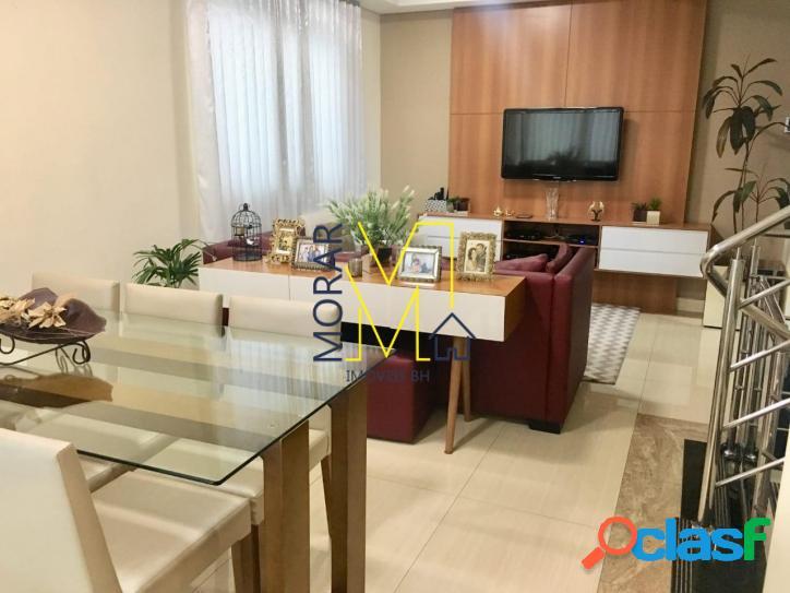 Casa com 3 dormitórios à venda, 135 m² por r$ 630.000 - santa amélia - belo horizonte/mg