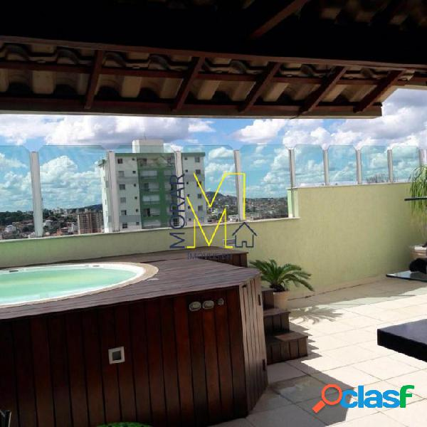 Cobertura com 3 dormitórios à venda, 211 m² por r$ 750.000 - itapoã - belo horizonte/mg