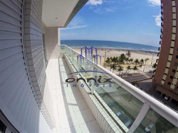 Apartamento frente para o mar em guilhermina - praia grande,