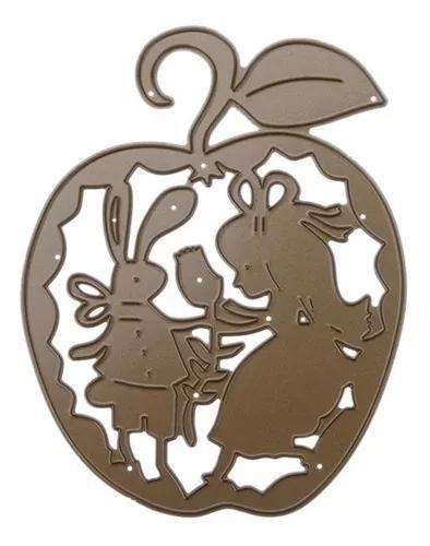 Apple Meninas Diy Stencil Metal Scrapbook Artesanato Corte