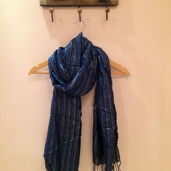 Azul e prateado luxo