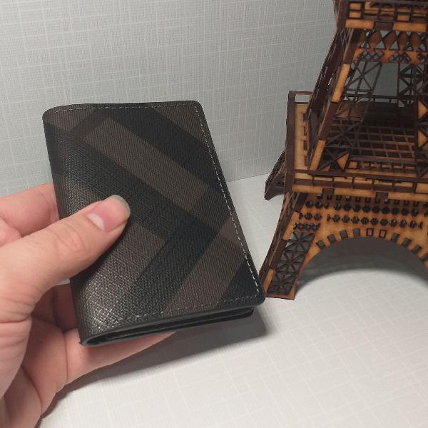 Carteira masculina slim burberry porta cartões mini premium