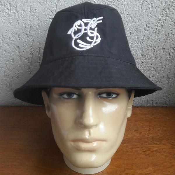 Chapéu bucket hat unissex og script