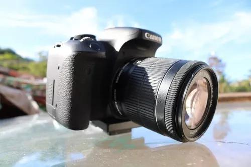 Câmera fotográfica canon eos rebel t6i + lente 18-55