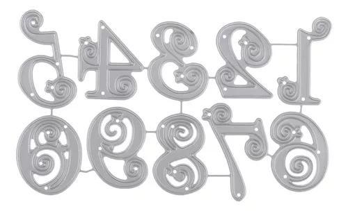 Diy 0-9 números metal corte dies estêncil para scrapbook