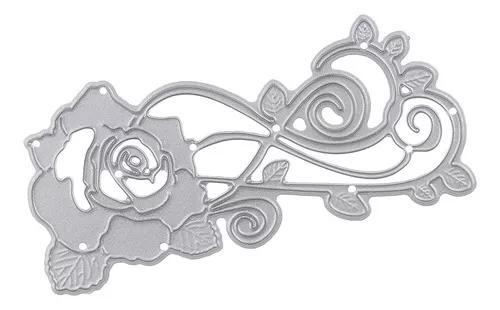 Diy rose flor stencils, bonito die corte morre metal corte s