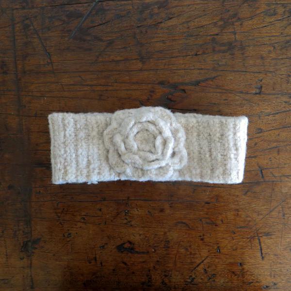 Faixa de cabelo de lã para o inverno