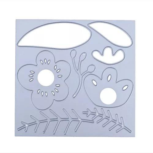 Flor diy stencil metal scrapbook artesanato bordado corte