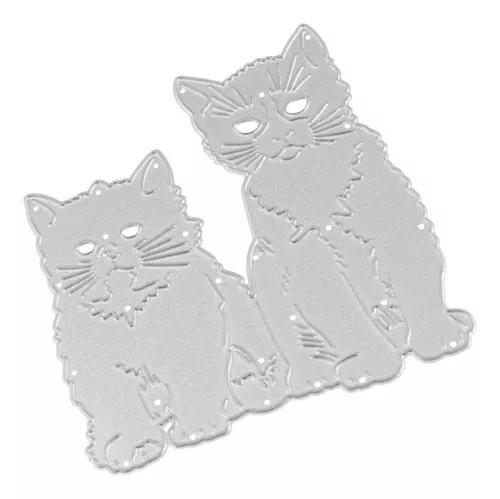 Gatos decora metal corte morre scrapbook papel craft