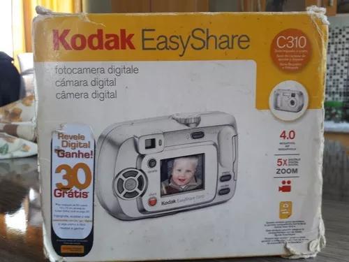 Kodak easy share c310 4.0 funciona a pilha.