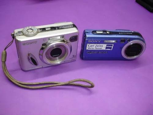 Lote c/ 3 cameras sony p100 e w7 + canon a430 no estado