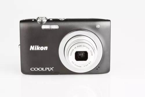 Máquina digital nikon coolpix s2600 preta 14mp lcd 2,7