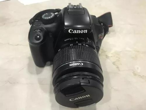 Máquina fotográfica canon eos rebel t3 - usada