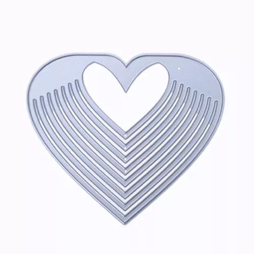 Oco de coração diy metal estêncil para scrapbook corte de