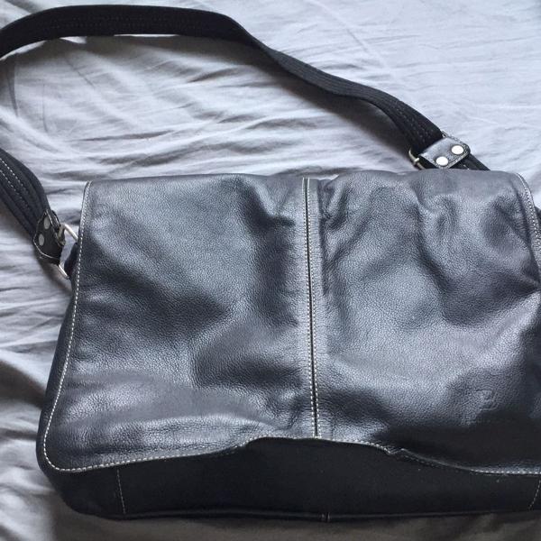 Bolsa carteiro couro legítimo