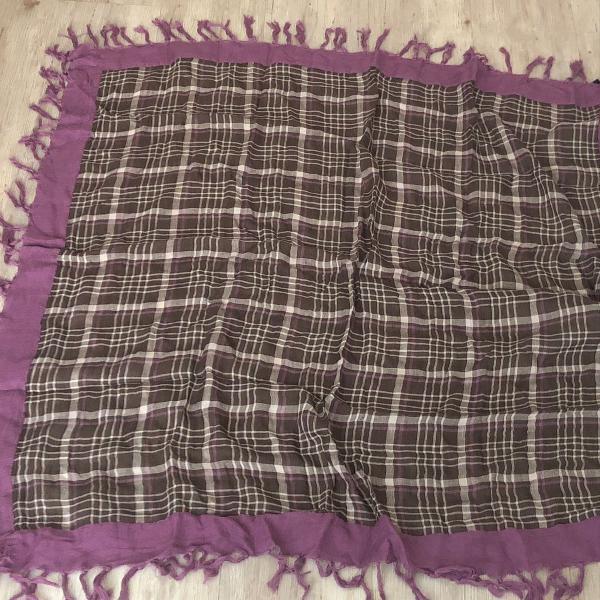 Cachecol lenco de linho e algodão importado gap
