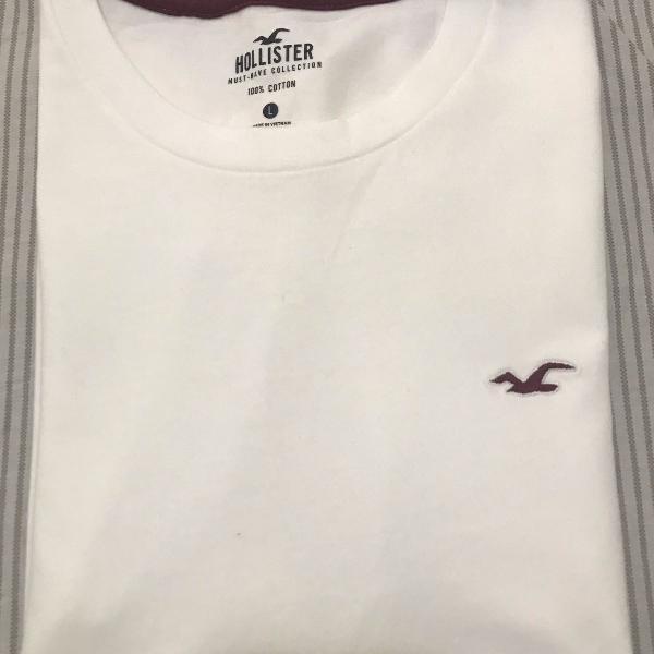 Camiseta hollister básica branca