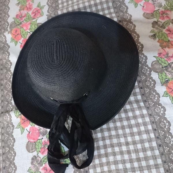 Chapeu feminino preto - celular 98386-8137