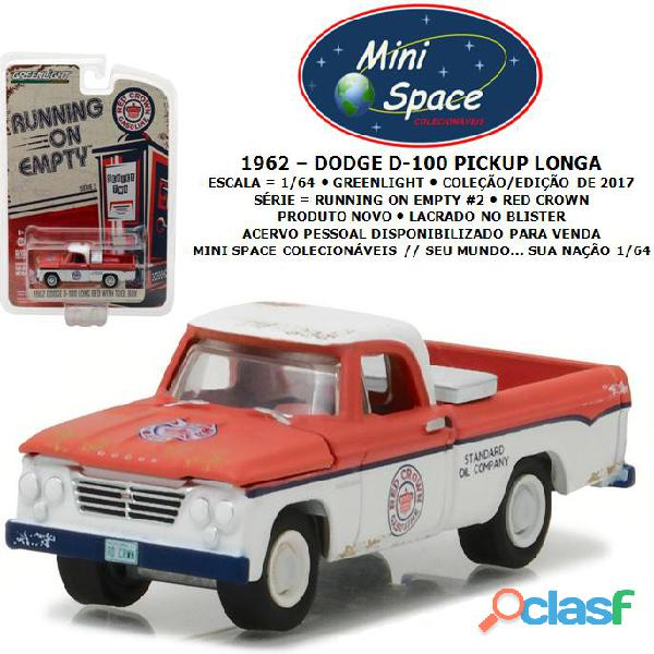 Greenlight 1962 dodge d 100 pickup longa (red crown)1/64
