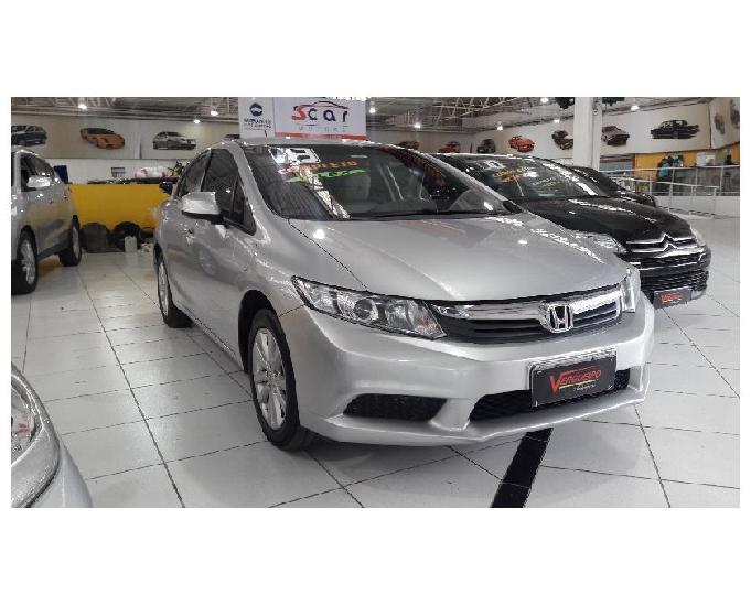 Honda civic lxs 1.8 flex automatico 2013 financio