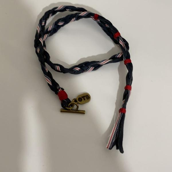 Pulseira couro diesel only the brave nova