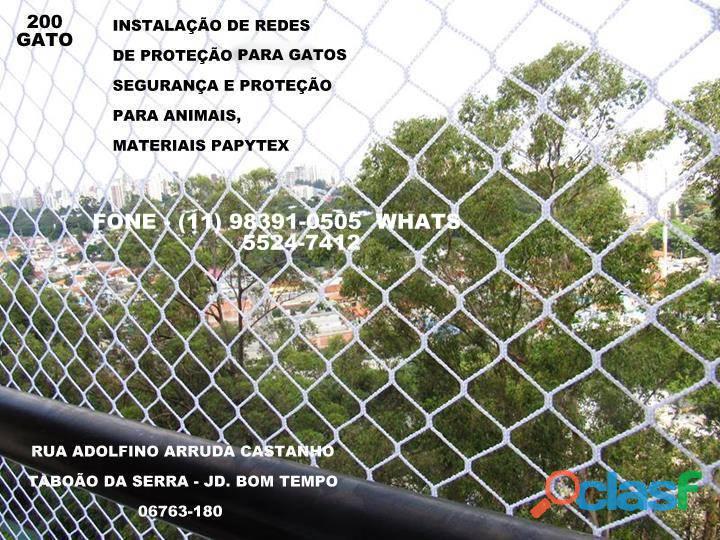 Redes de Proteção no Residencial Morada do Bosque, Rua Adolfino Arruda Castanho 200.