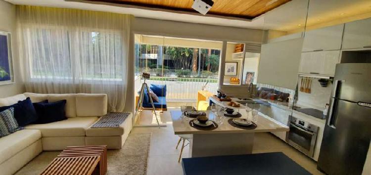 Apartamento novo em alphaville - 59m² - 2 vagas demarcadas