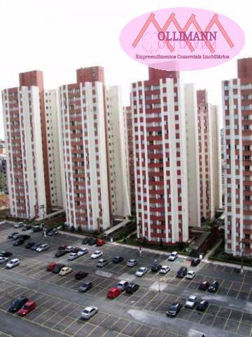 Apartamento/usado para venda em santo andré, jardim do