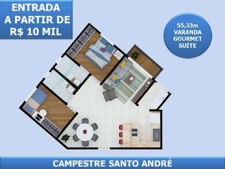 Campestre - santo andré - 55m² investidor