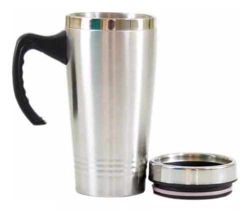 Caneca copo térmico inox com tampa 450 ml linha pr