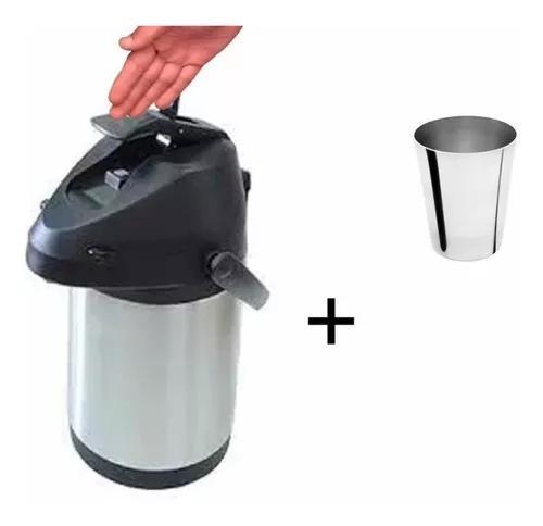 Garrafa térmica inox inquebrável 2,5 litros + brinde