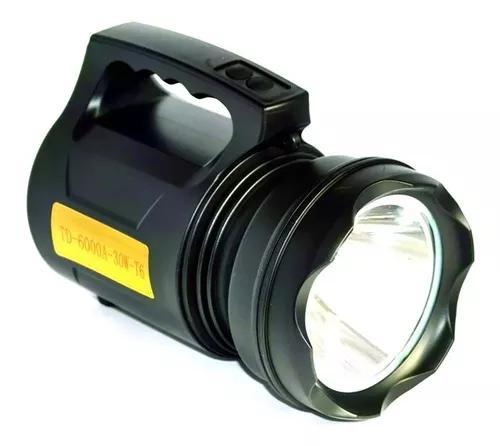 Holofote super potente led recarregável 30w td 6000a t6