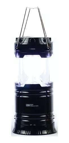 Lampião de led camping luminária lanterna solar usb lk011
