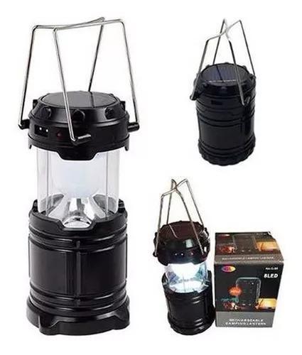 Lampião led luminária solar retrátil recarregável bivolt