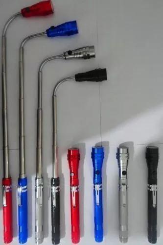 Lanterna flexivel 3 leds ima articulavel bastao retratil