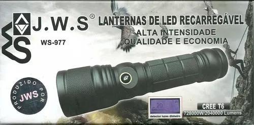 Lanterna led recarregavel ultra violeta t6 ws-977