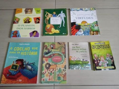 Lote com 7 livros infanto juvenil diversos usados