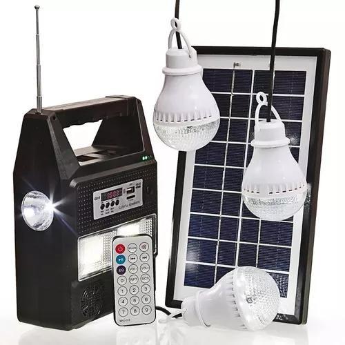 Placa solar lâmpada led portátil usb mp3